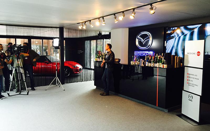 Mazda Sake Bar, allestimento temporaneo realizzato da Frog per Mazda al Festival del Cinema