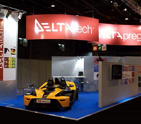 Stand Delta Tech alla fiera JEC Composits a Parigi