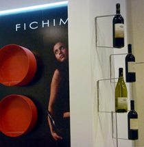 View of the Fichimori stand set up at Vinitaly in Verona in 2010