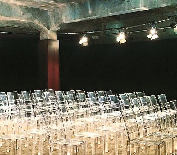 Primo piano sedute - allestimento al Mazda Design Space per l'evento Domus a Milano