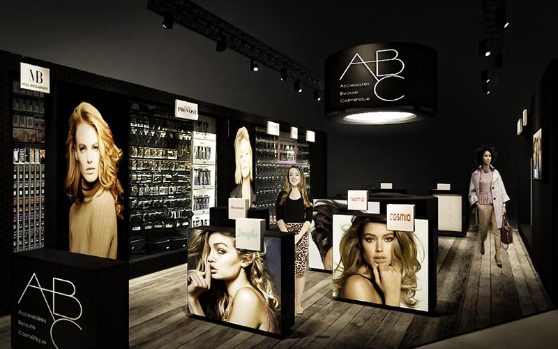 Presentazione progetto stand ABC-Elite Models al Cosmoprof, Bologna